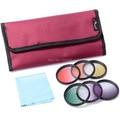 Xcsource 6pcs 58mm Graduated Color Lens Filter Kit With Bag for Canon EOS 5D Mark 2 3 550D 650D 1100D LF349-SZ