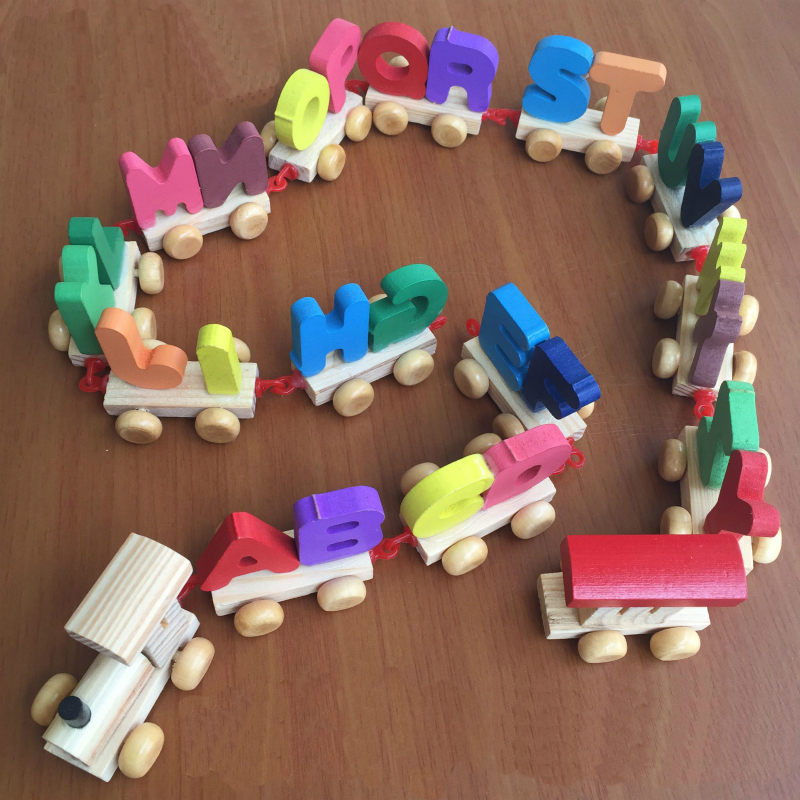 MamimamiHome Baby Wooden Toys Detachable Assembled 26 Letters Cognitive Train Children Early Childhood Education Toys Blocks 200 sets of wooden pile two scenes bottled blocks children s early childhood educational toys