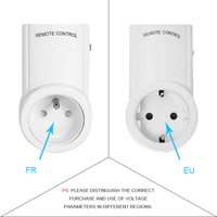 Indoor EU French Standard AC 220V Remote Contro Power Socket Plug RF 433 mhz Wireless Power Outlets Light Switch For Smart Home