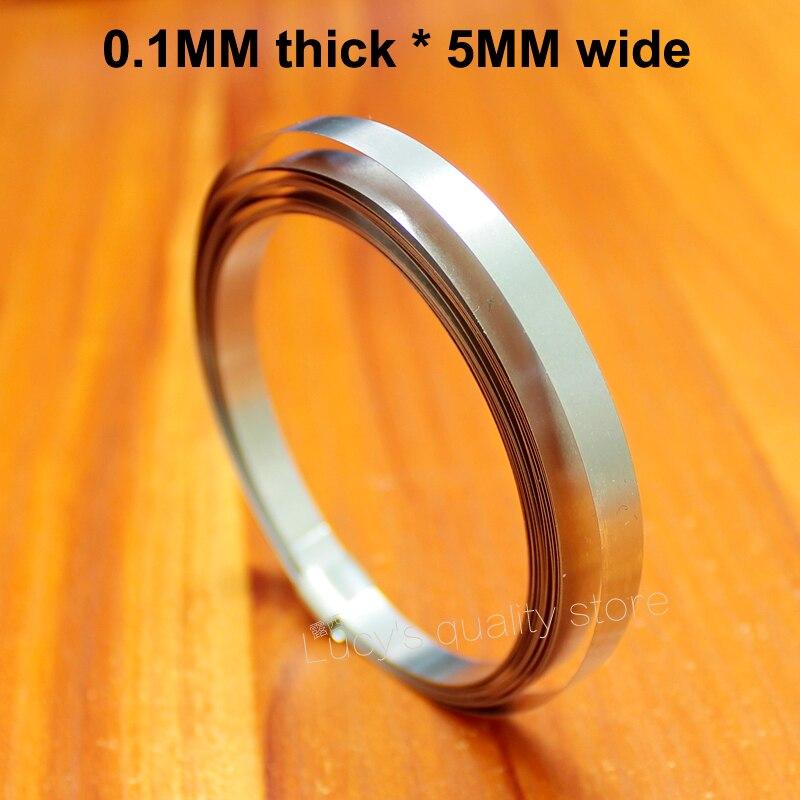 1 Mt Spot Schweißbar Nickelblech Vernickelt Gürtel 18650 Batterie Vernickelt Stahl Band Verbindungsstück 0,1 Mm * 5 Mm Breite Sparen Sie 50-70%