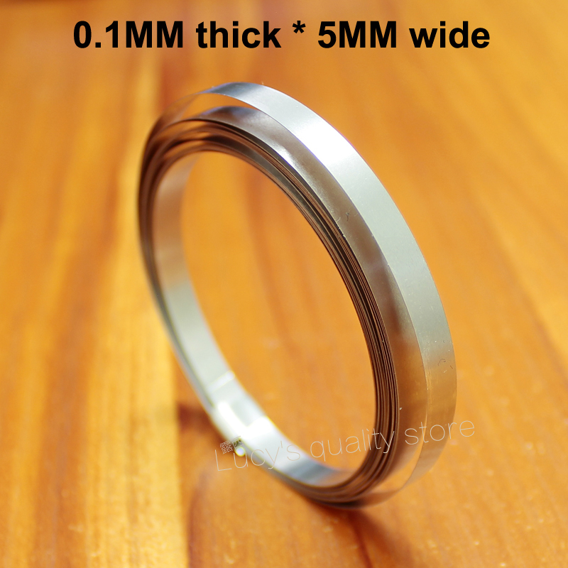 1M Spot Weldable Nickel Sheet Nickel Plated Belt 18650 Battery Nickel Plated Steel Tape Connecting Piece 0.1MM*5MM Wide