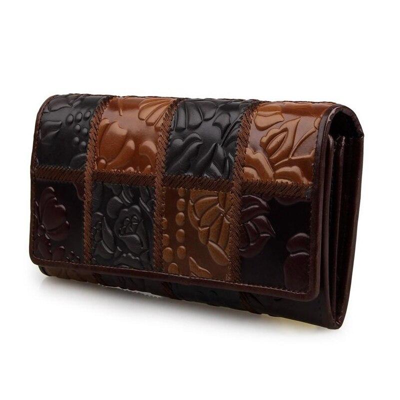 nacional de longo carteira mulheres Composição : Cowhide Leather