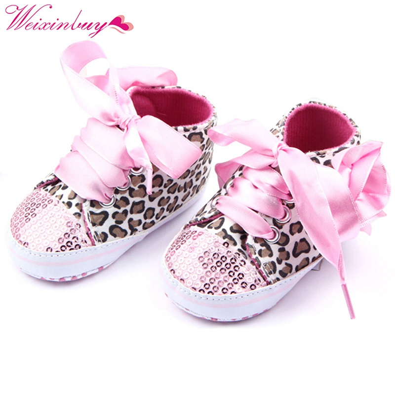 Cute Lovely Baby Girls Shoes Cotton Floral Leopard Sequin Infant Newborn Soft Sole Baby  ...