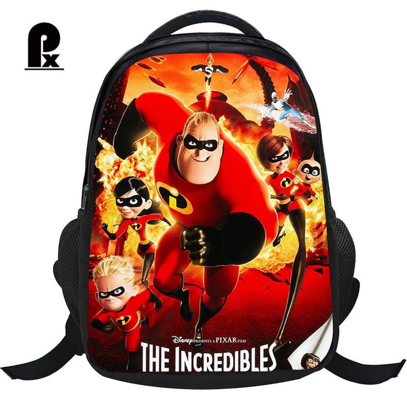 69c4bb3920d 2018 The Incredibles Children Bag School Bags Girls Cartoon Backpack ...
