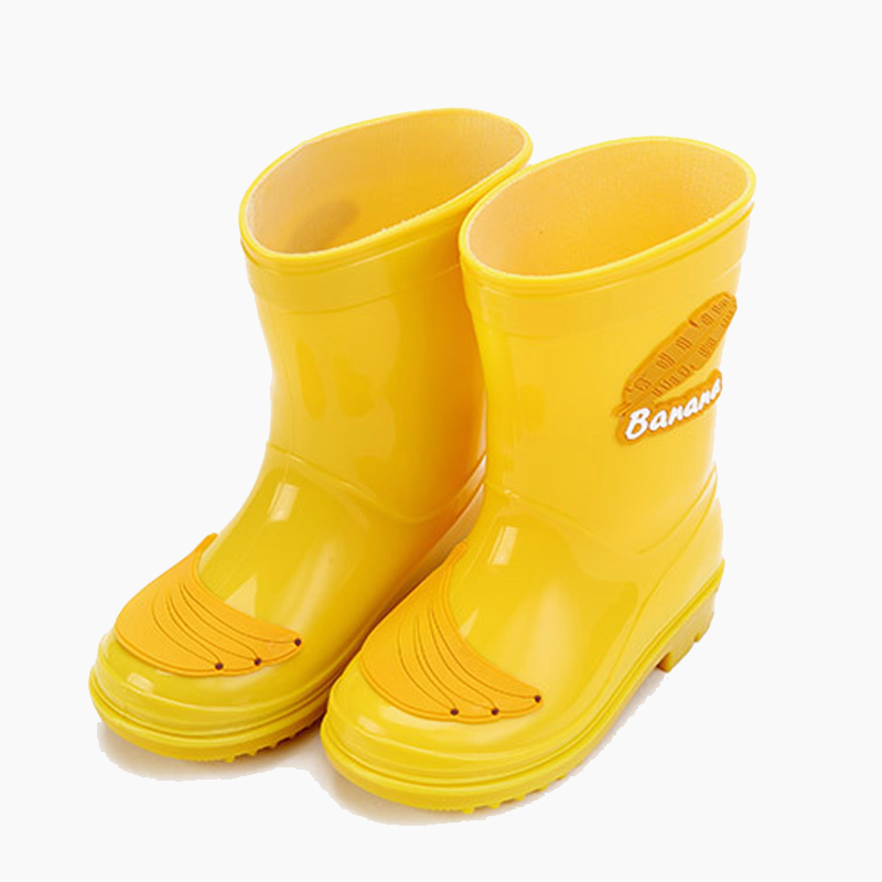7000c1c2 MAGGIE'S ходунки детские резиновые сапоги Симпатичные желтый банан  украшения одежда для малышей мальчиков и девочек непромокаемые