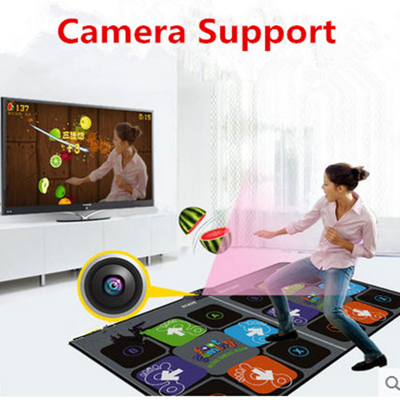 Camera Support Double Dance Mat Pad For Tv Usb Computer Step Game Rug Dual User Hd 11mm Dancing Machine Yoga Mat With Two Handle