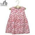 Розничная 2-6 лет платье без рукавов о-образным вырезом Цветочные печать мило моды дети дети лето