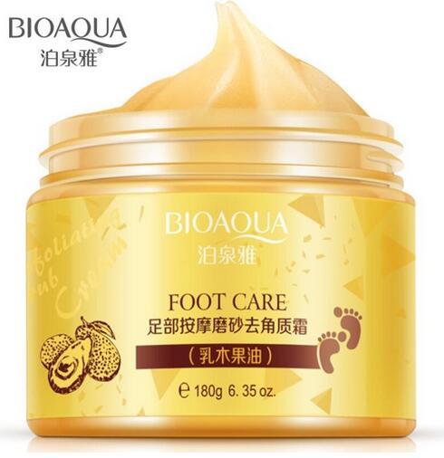 96pcs BIOAQUA Shea Butter Foot Cream Peeling Exfoliating Foot Care Massage Cream Whitening Moisturizing Foot Spa Baby Feet bioaqua exfoliante para pies