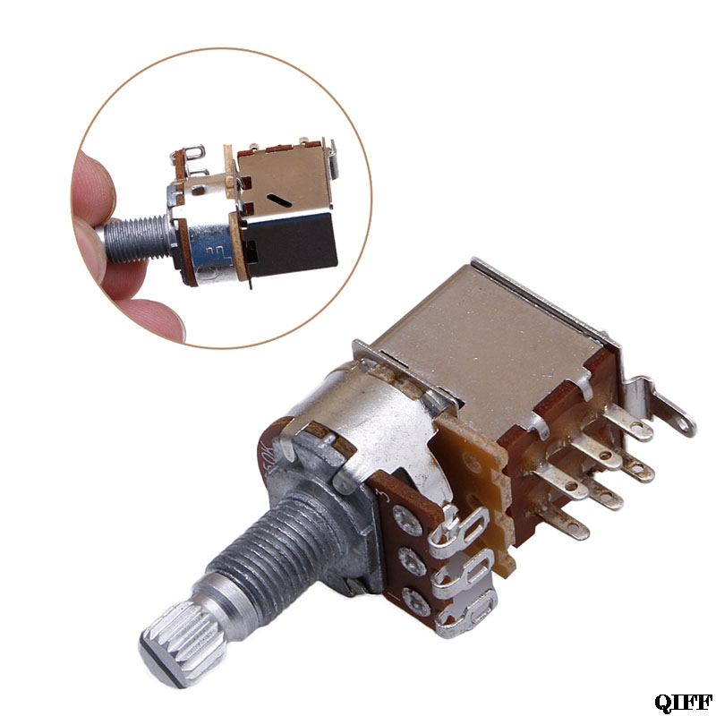 POTENTIOMETER+PULL SWITCH ELECTRIC GUITAR POT B250K NEW