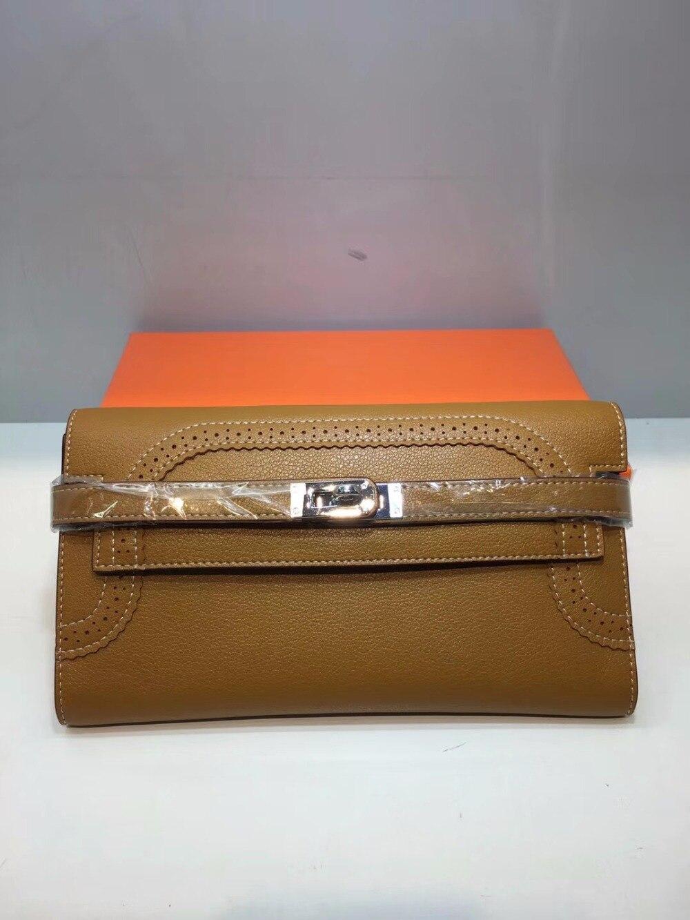 Cafunila nouveauté en cuir véritable portefeuilles femmes en cuir de vache sac à main pochette à fermeture éclair porte-carte de crédit dame pochettes