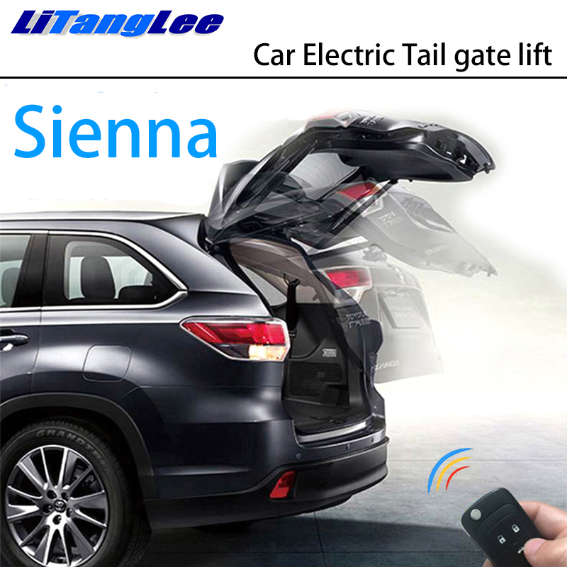LiTangLee Car Electric Tail Gate Lift Trunk Rear Door Assist System For Toyota Sienna XL30 2011~2019 Original Key Remote Control