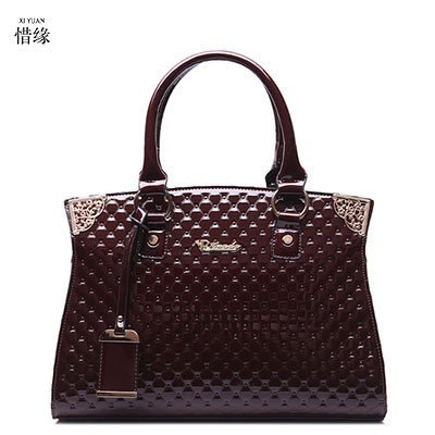 XIYUAN BRAND luxury women designer handbags high quality Cowhide Genuine Leather Handbag mom's messenger bags bolsa feminina red silver jewelry gems drill bits diamond coated hole saw tools 0 7mm set of 100