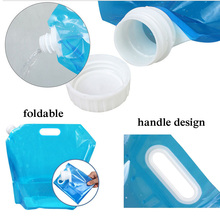5L 10L Folding Water Bag Canister PE Tasteless Safety Seal Lightweight Drinking Water Storage Bag for Camping Hiking Picnic