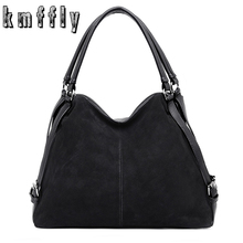 Vintage Nubuck Leather Bags 2018 Larger Totes Women Crossbody Bags All match Faux Suede Shoulder Bag Motorcycle Messenger Bags