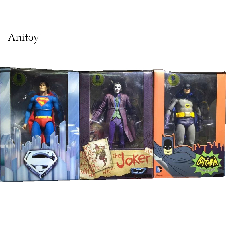 NECA DC Comics Superman Vs. Batman Joker 1/8 scale painted PVC Action Figure Collectible Model Toy 18cm KT2187 neca dc comics batman superman the joker pvc action figure collectible toy 7 18cm 3 styles