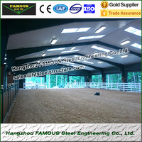 Steel structure prefabricated metal shed used for car garage
