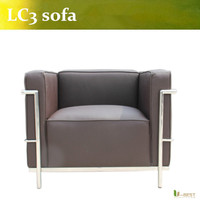 U BEST Genuine Leather LC2 Petit Arm Chair Inspired By Designs Of Le Corbusier Arm Chair