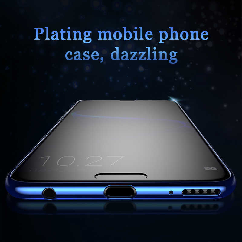 Luxury Soft Silicone TPU Case For Huawei Honor 8X Max 8C 10 9 8 10 Lite Plating Cover For Honor Note 10 9 V10 7X Fundas
