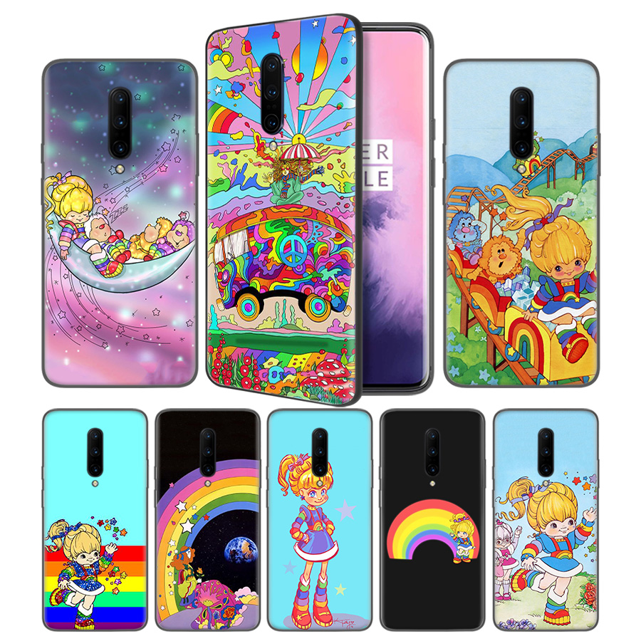 Rainbow Brite Overthink Soft Black Silicone Case Cover for font b OnePlus b font 6 6T
