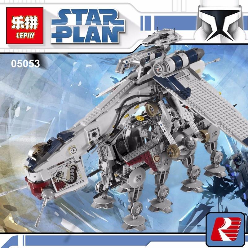 05053 1788Pcs Genuine Star War Series The Republic Dropship Set Building Blocks Bricks Children Toys 10195 compatiable with lego
