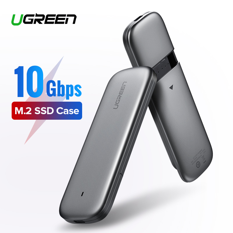 Ugreen M2 SSD Case M.2 USB NVME Enclosure Hard Drive Disk Box for M2 NVME NGFF SSD Enclosure Type C 3.1 M-Key B-Key M.2 SSD Case samsung