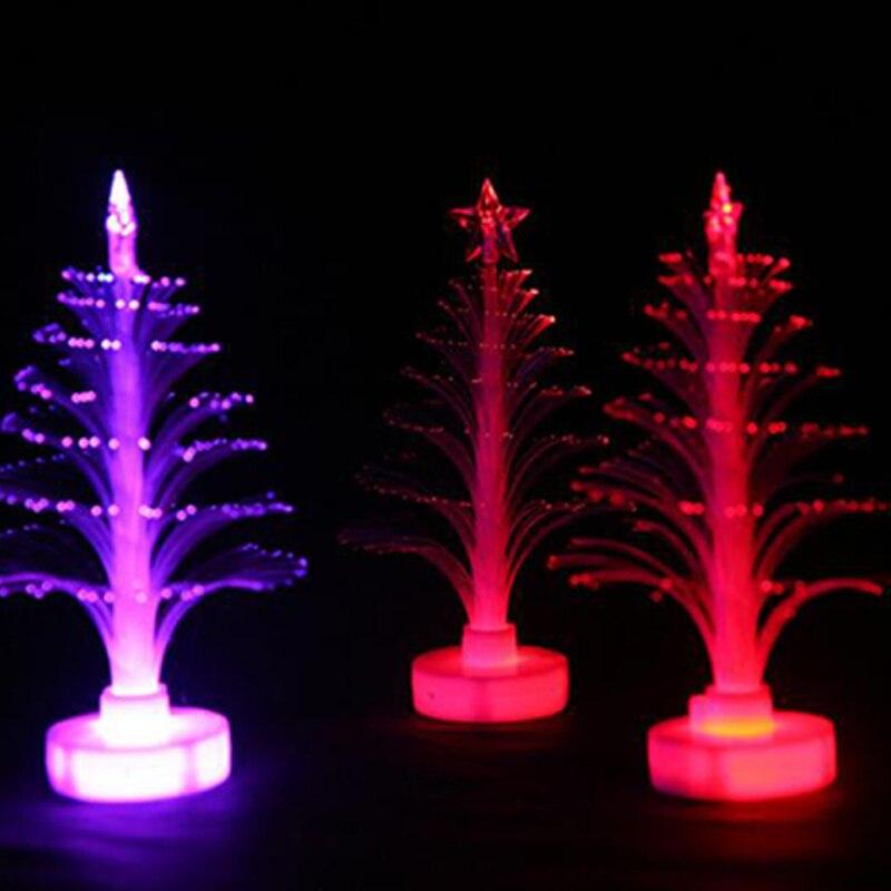 Christmas Tree 7 color Changing Colorful Fiber Optic Nightlight Christmas Tree PartyIndoorHolidayChristmas Decor (8)