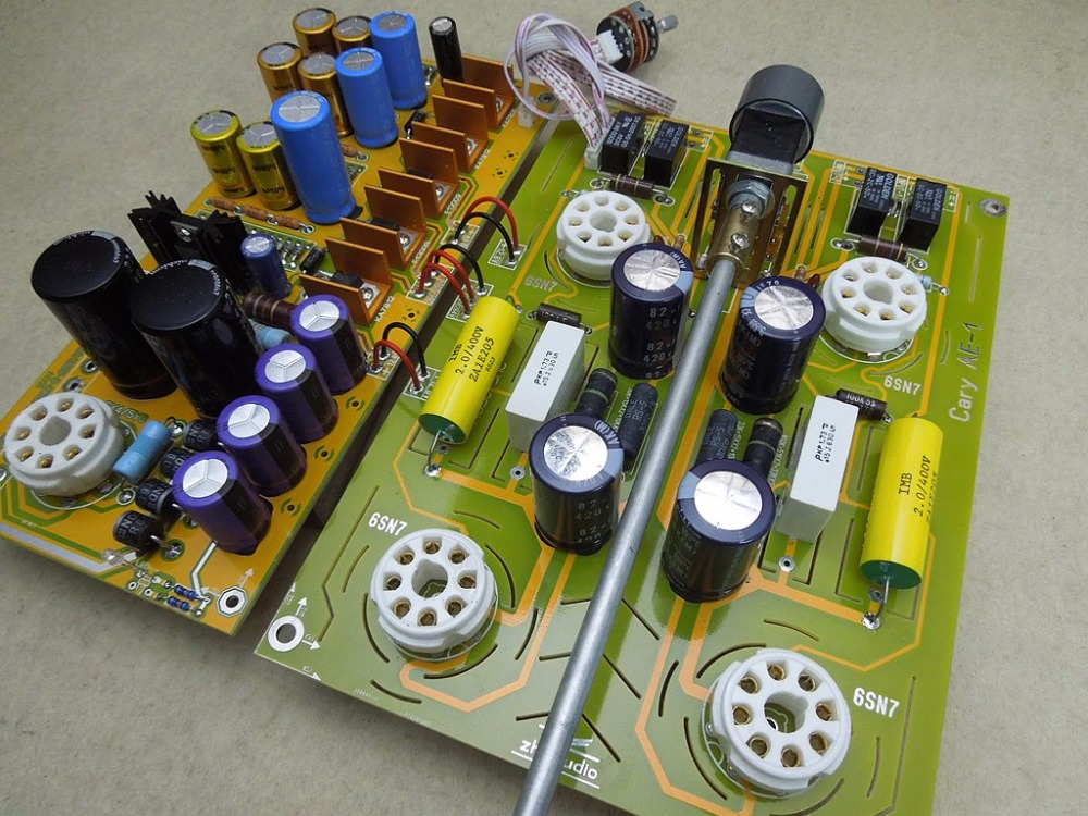 Hi-End 6sn7/6n8p Valve&Vacuum Tube Pre-Amplifier Stereo HiFi Board Reference United States Cary AE-1 CircuitHi-End 6sn7/6n8p Valve&Vacuum Tube Pre-Amplifier Stereo HiFi Board Reference United States Cary AE-1 Circuit