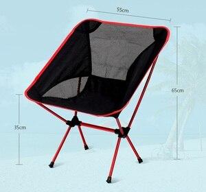Image 2 - Портативный складной стул для кемпинга и пикника, Сверхлегкий пляжный стул