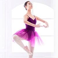 2019 New Professional Ballet Tutu Purple Ballet Leotards For Women Performance Dance Costumes Roupa Infantil Feminina JDQ10001