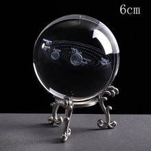 Buy Deli 1PCS 6CM 3D Miniature Planets Model Laser Engraved Solar System Ball Sphere Glass Globe Ornament Home Gift for Astrophile directly from merchant!