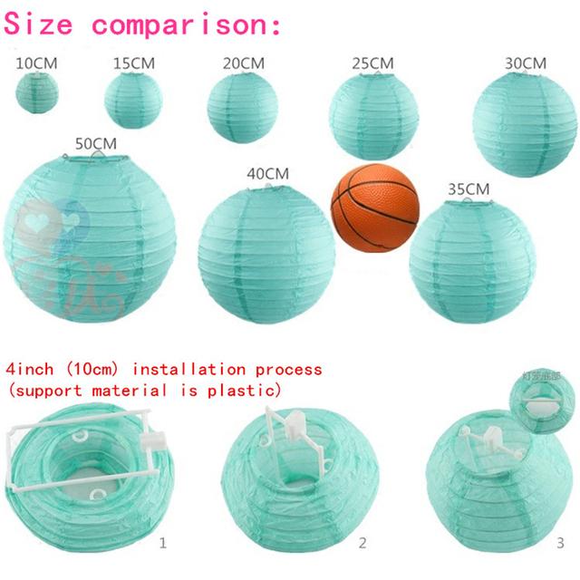 "Lampion Mix 3PCS  4″6″8"" (10cm 15cm 20cm)Chinese Paper Lantern Round Lamp Wedding Decor Festival Christmas Lantern Decoration,7"