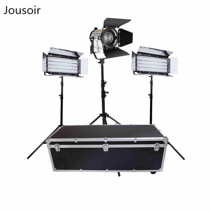 Cinema e TV de luz fria luz de estúdio virtual barato set star entrevista LED150W holofotes luzes de três básica CD50