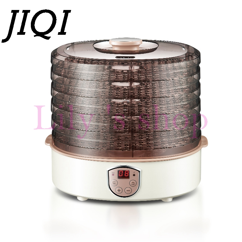 JIQI Food Dehydrator Fruit Vegetable Herb Meat Fish flower Drying Machine Household electric timing snacks food dryer 5 trays EU shanghai kuaiqin kq 5 multifunctional shoes dryer w deodorization sterilization drying warmth