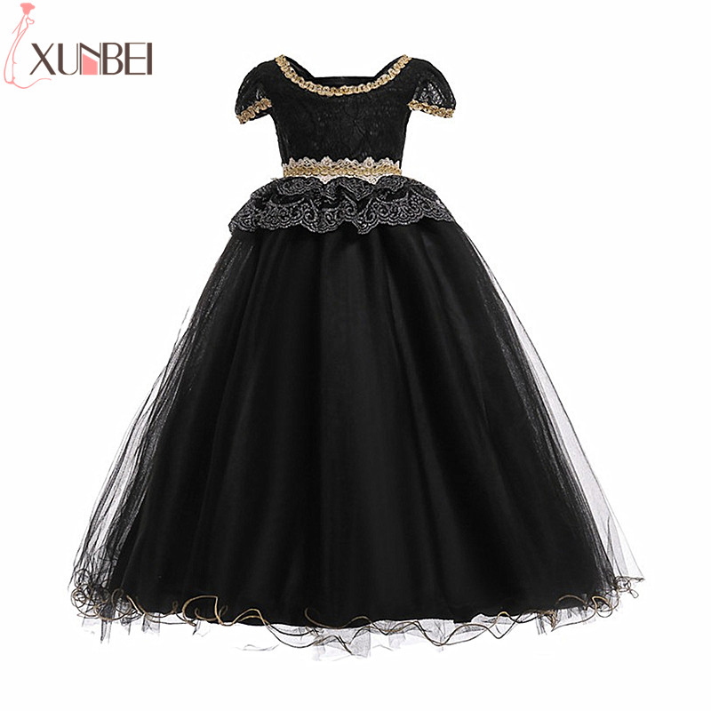 Lace   Flower     Girl     Dresses   Tulle 2019 Pageant   Dresses   For   Girls   First Communion   Dresses   Kids Prom   Dresses   vestido de flores