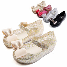 Melissa Big Bow Brazil Girls Jelly Sandals 2019 Summer Children Shoes Non-slip Princess