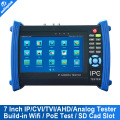7 Inch Touch Screen IP Camera CCTV Security Tester IPC Tester ONVIF/ More IPCamera Cable/POEtest +AHD/HDCVI/HDTVI Camera Tester