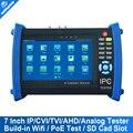 7 Polegada Tela Sensível Ao Toque Câmera IP de Segurança CCTV Tester Testador ONVIF IPC/Mais IPCamera Cabo/POEtest + AHD/HDCVI/HDTVI Câmera Tester