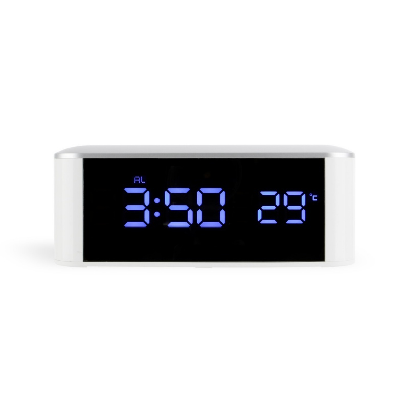 Modern Home Decor White Led Alarm Clock,saat Despertador Temp+date+time Electronic Digital Table Desktop Clocks Nourishing The Kidneys Relieving Rheumatism Temperature Instruments Tools