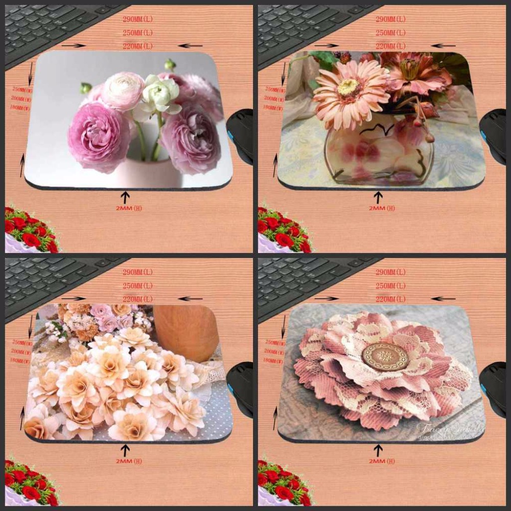 High Quality Sweet Peach Roses Customized Mouse Pad Beautiful and Fragrance Computer Notebook Laptop Gaming Mice Mat Pad