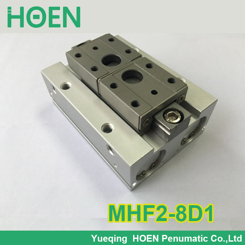 MHF2-8D1 SMC type air pneumatic gripper MHF2 series with strong gripping force MHF2 8D1 high quality double acting pneumatic gripper mhy2 25d smc type 180 degree angular style air cylinder aluminium clamps