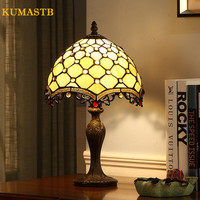 Living Room Table Lamp Bedroom Bedside Light Stained Glass Decoration Table Lamp LED Desk Lamp for Study Table Lamp