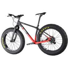 Fat Bastard Carbon Fat Bike 26er x 4.8 mountain fat tires bike snow bicicleta 16 18 20 inches fatbike(China)