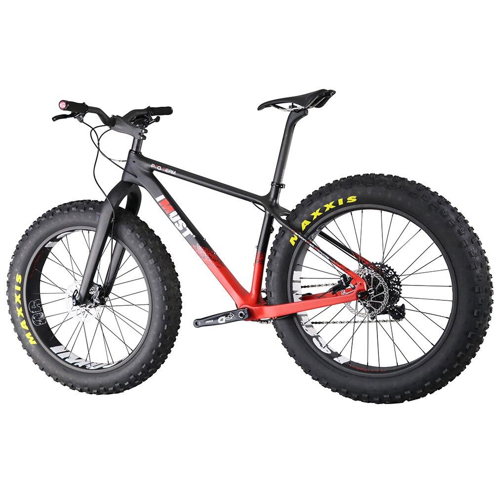 Gras double Carbone Graisse Vélo 26er x 4.8 montagne gros pneus vélo neige bicicleta 16 18 20 pouces fatbike
