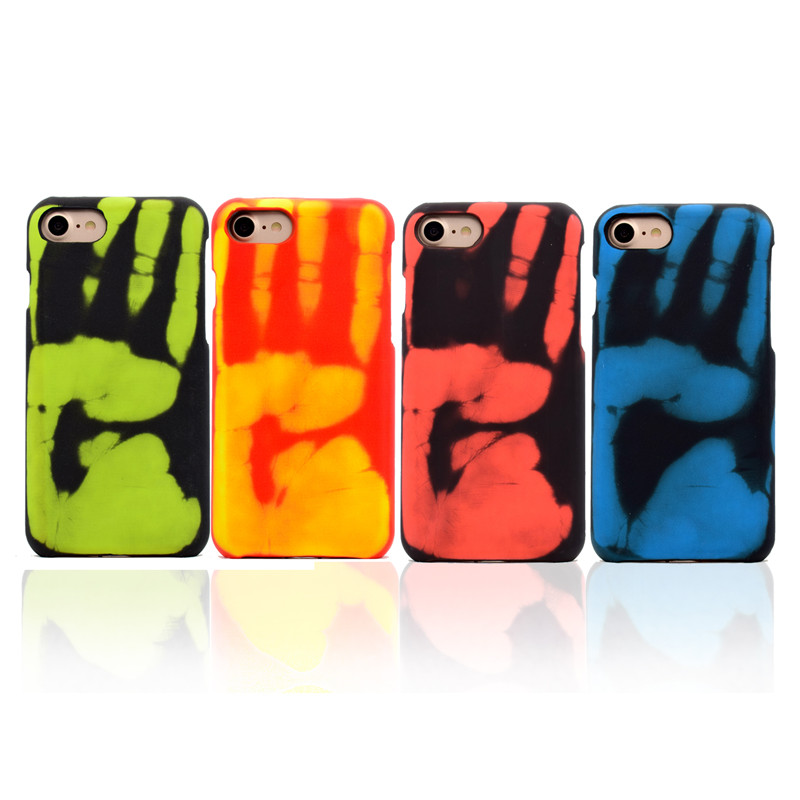 Hxairt Hot Discoloration Phone Case For iPhone 5s 5 SE 6 6S <font><b>7</b></font> 8 X <font><b>Sexy</b></font> PU Matte Thermal Sensor Cases For iPhone 8Plus 6Plus Case image