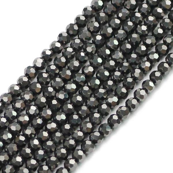JHNBY, футбольные граненые Австрийские кристаллы, 200 шт, 3 мм, цветные круглые бусины, ювелирные изделия, браслет, аксессуары, сделай сам - Цвет: QZ3102 Black gray