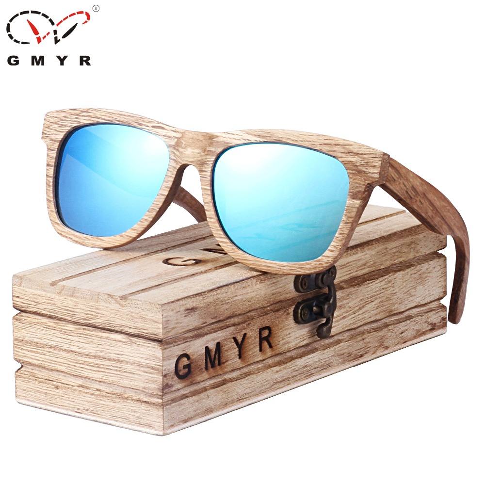 Handmade Men Women Bamboo Wood Sunglasses Wooden Temple Outdoor Glasses New