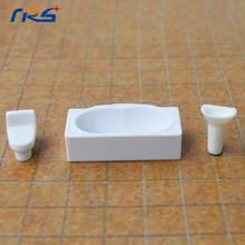 20 sets scale 1:25 model furniture for washing room with bathtub,hand sink,closestool