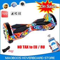 No tax to EU/RU 8 inch self balancing electric APP Hoverboard Led light skywalker overboard oxboard stand up Hover board