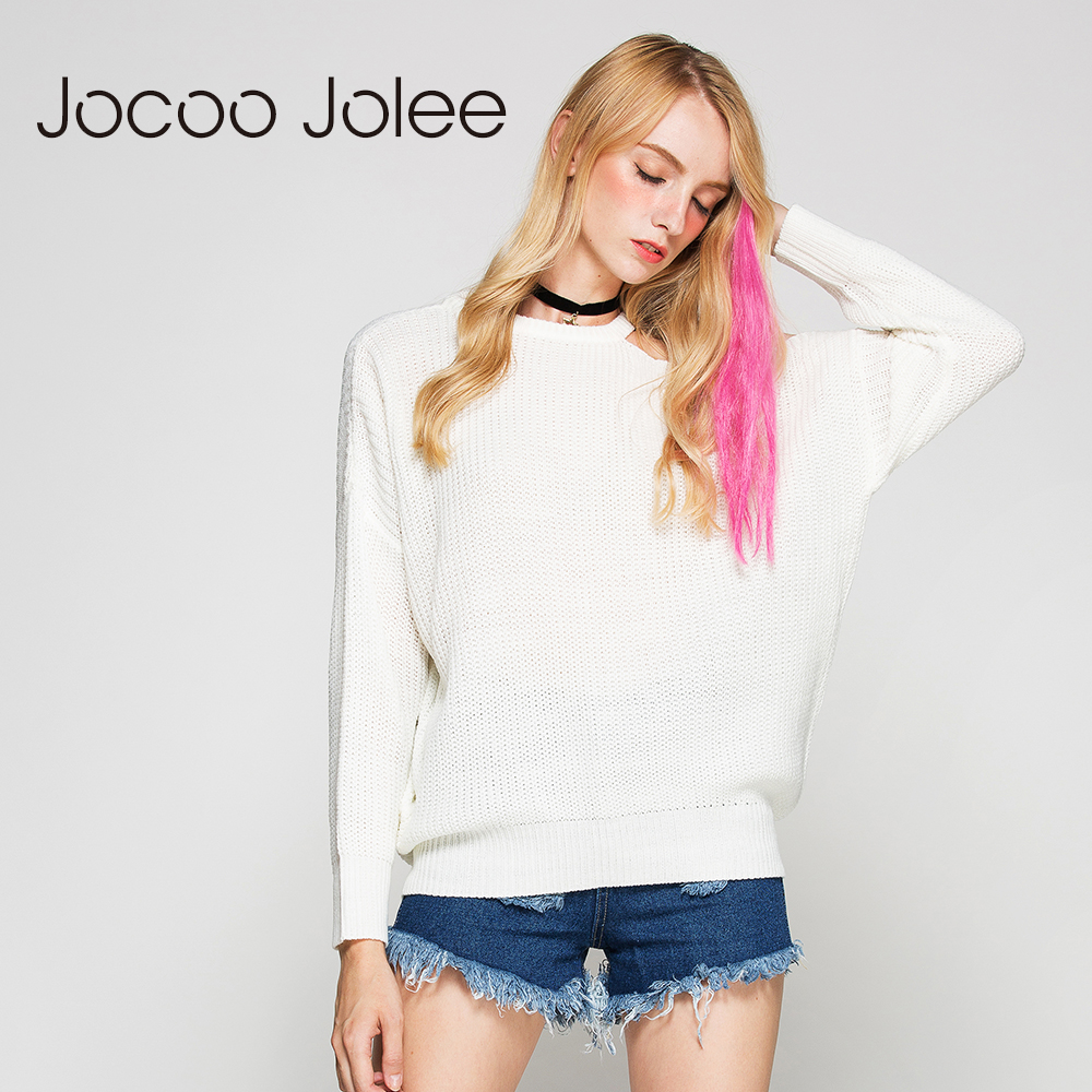 Aliexpress.com : Buy Jocoo Jolee Winter White Knitted Sweater ...