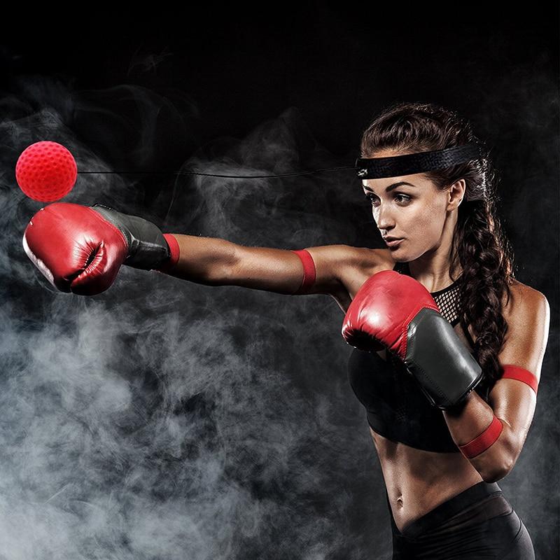 Boxe luta reflex bola bandana soco bolas de perfuração artes marciais fitness ginásio exercício equipamentos de treinamento melhorar a reação 5